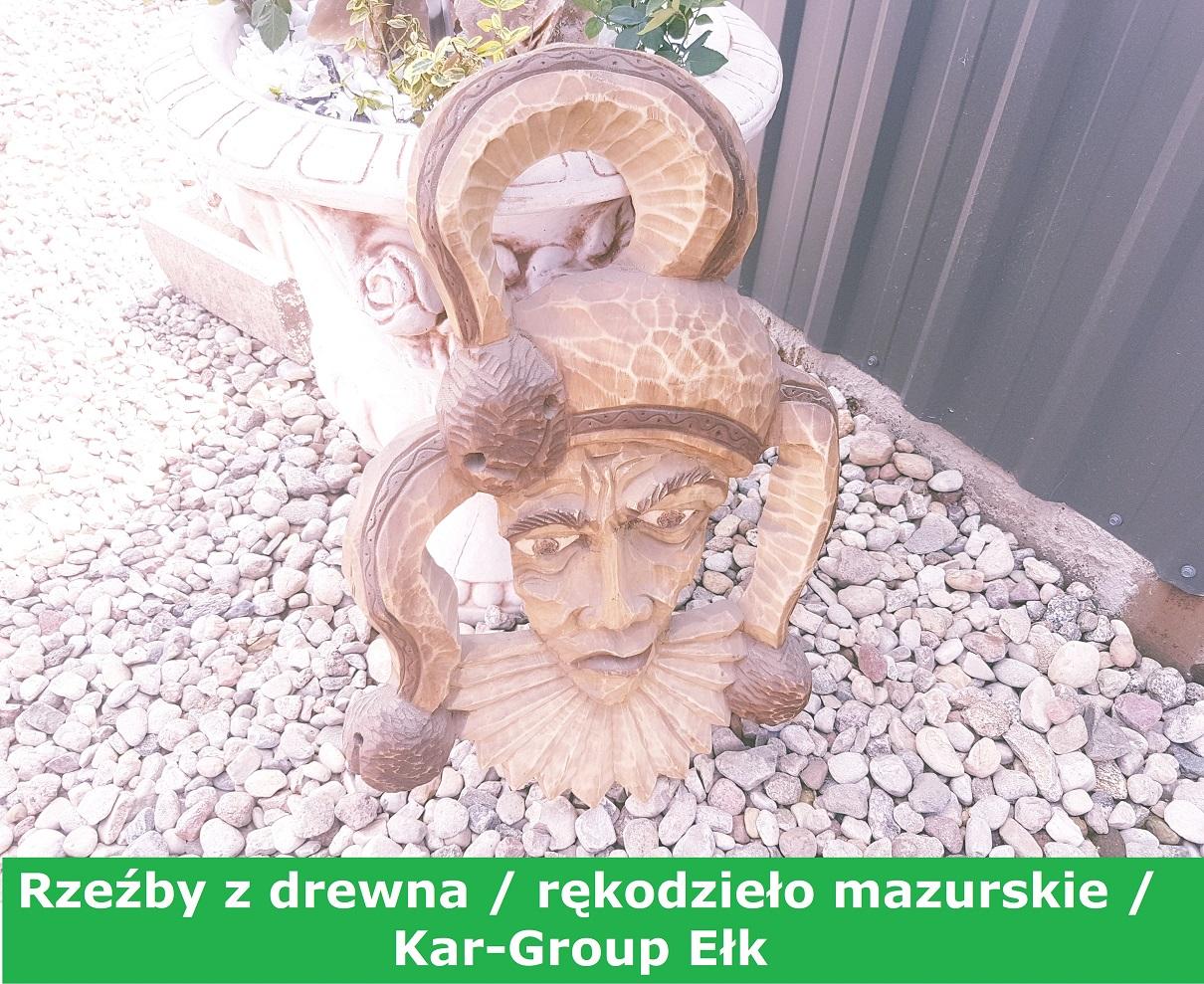 rzeźby z drewna ełk